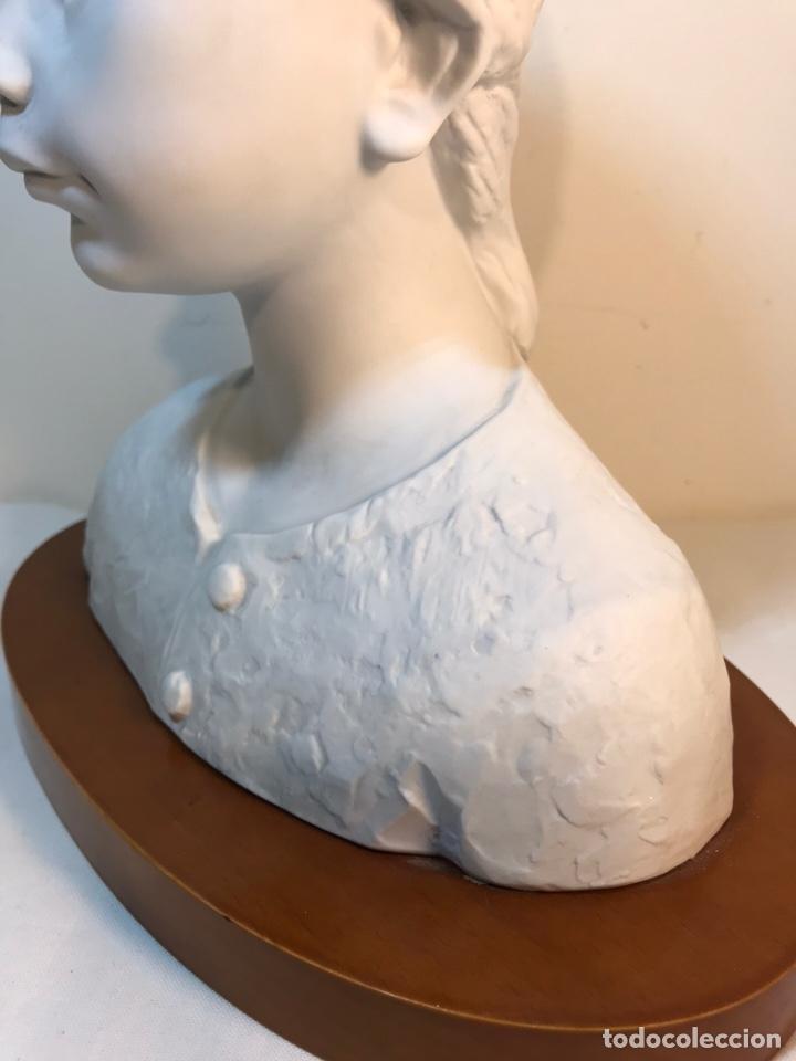 Antigüedades: Figura Porcelana- Lladró- Niña Busto- Serie Limitada n 134 de 500 - Foto 9 - 184720917