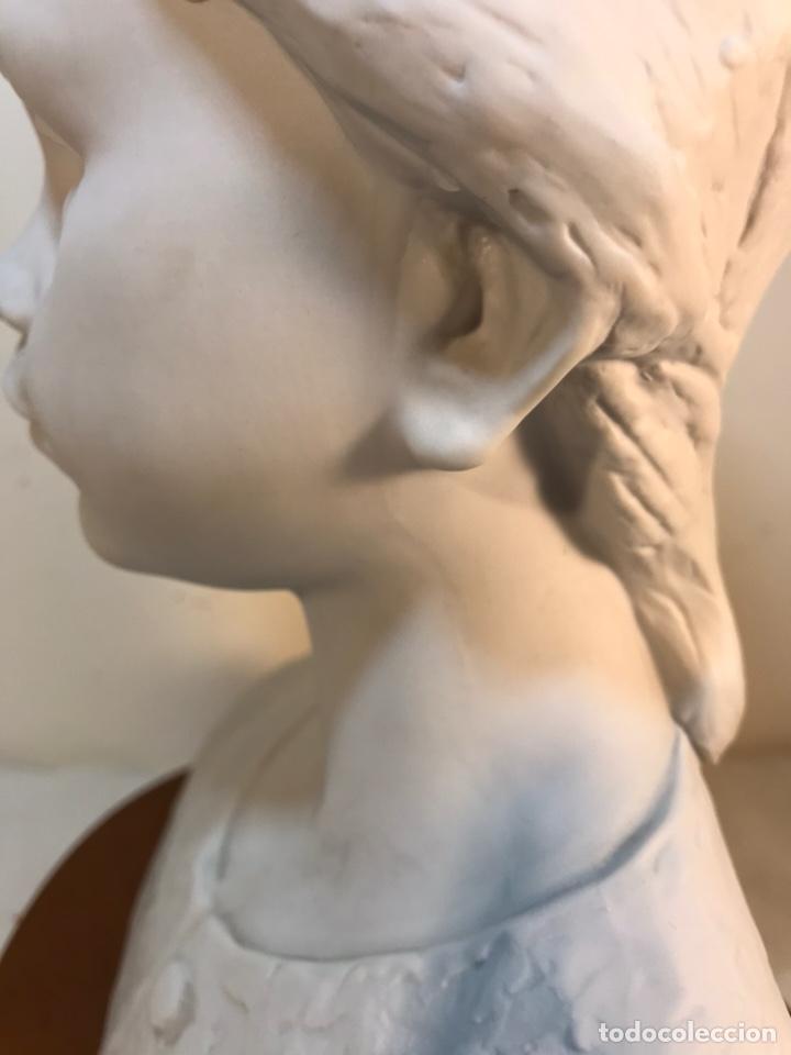 Antigüedades: Figura Porcelana- Lladró- Niña Busto- Serie Limitada n 134 de 500 - Foto 11 - 184720917