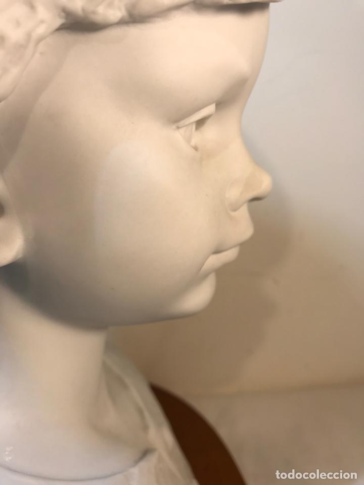 Antigüedades: Figura Porcelana- Lladró- Niña Busto- Serie Limitada n 134 de 500 - Foto 22 - 184720917