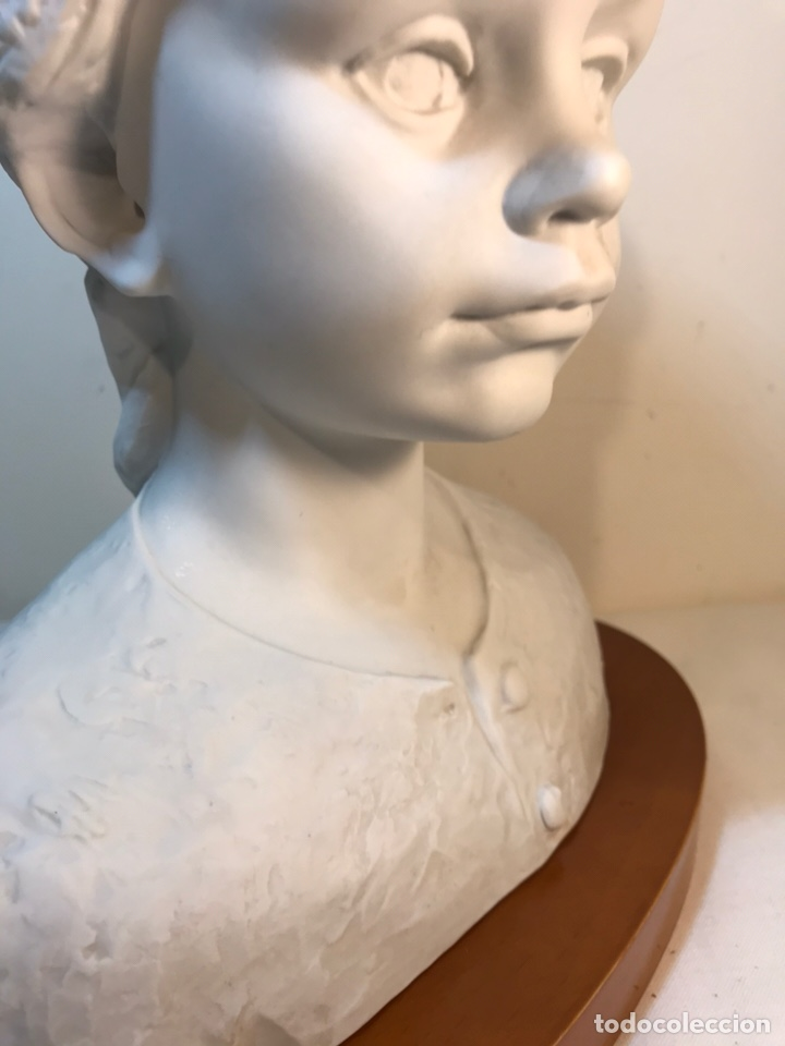 Antigüedades: Figura Porcelana- Lladró- Niña Busto- Serie Limitada n 134 de 500 - Foto 26 - 184720917