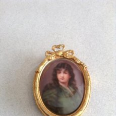 Antigüedades: PEQUEÑA PLACA PORCELANA FLORENCIA S.XIX. Lote 184727592