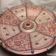 Antigüedades: ANTIGUO GRAN PLATO CERÁMICA DE REFLEJOS METÁLICOS MANISES BELLA PIEZA DE COLECCIÓN 41CM. Lote 184747157