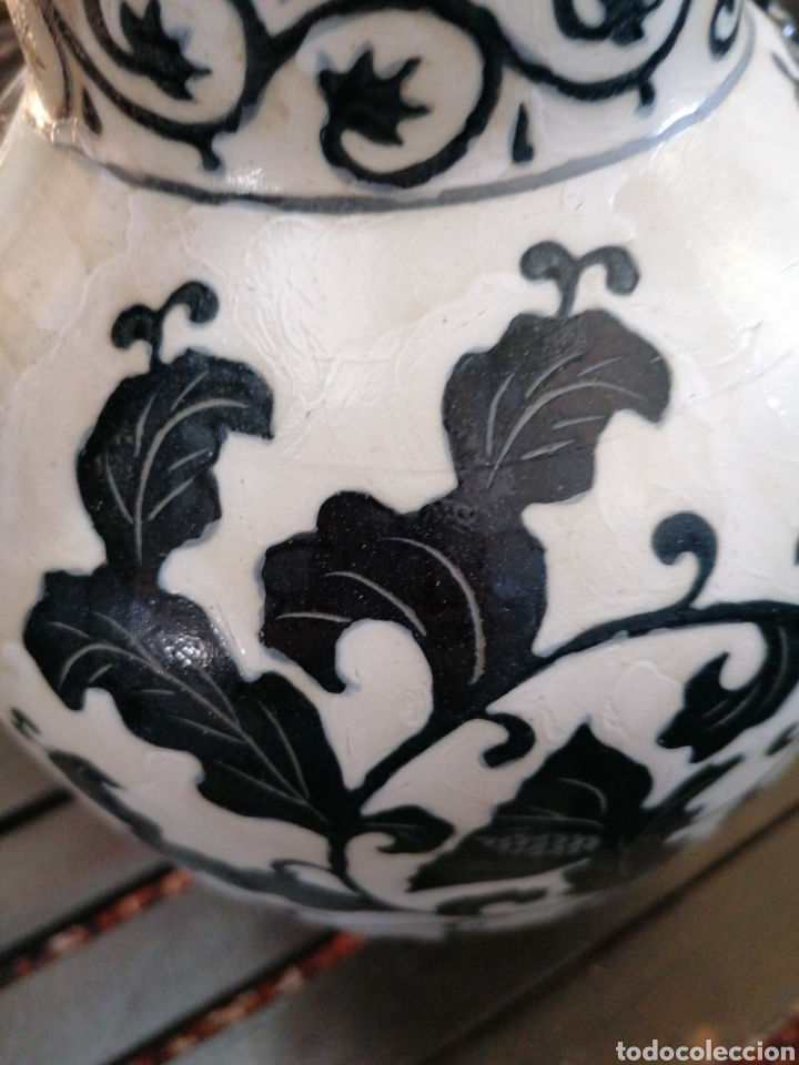 Antigüedades: Jarrón muy bonito con hojas - Foto 4 - 184756491