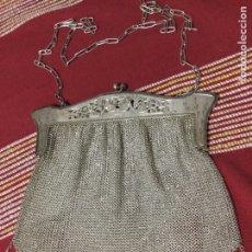 Antigüedades: PRECIOSO BOLSO MALLA DE PLATA. Lote 184774473