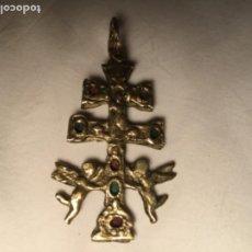 Antigüedades: CRUZ DE CARAVACA BRONCE. Lote 184785355