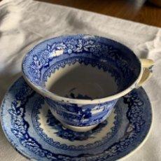 Antigüedades: TAZA DE CAFÉ Y PLATO DE SARGADELOS ANTIGUO. Lote 184787257