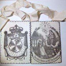 Oggetti Antichi: ESCAPULARIO TERCERA ORDEN DE N.P. STO. DOMINGO (DOMINICOS). Lote 184790792