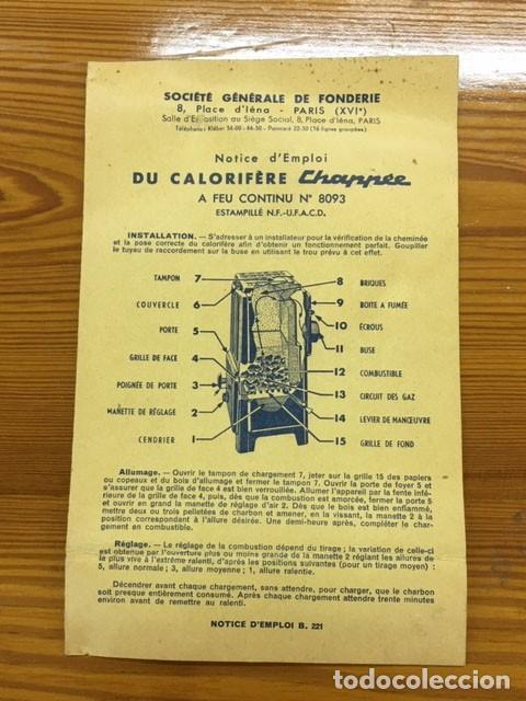 Antigüedades: Estufa esmaltada negra con manual de instrucciones - Foto 13 - 184835602