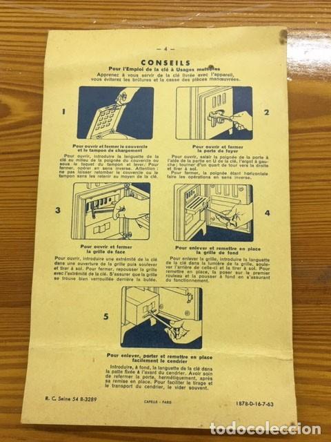 Antigüedades: Estufa esmaltada negra con manual de instrucciones - Foto 14 - 184835602