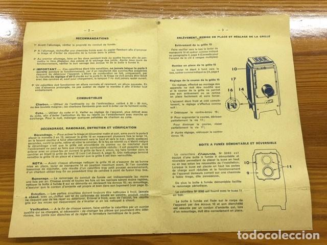 Antigüedades: Estufa esmaltada negra con manual de instrucciones - Foto 15 - 184835602