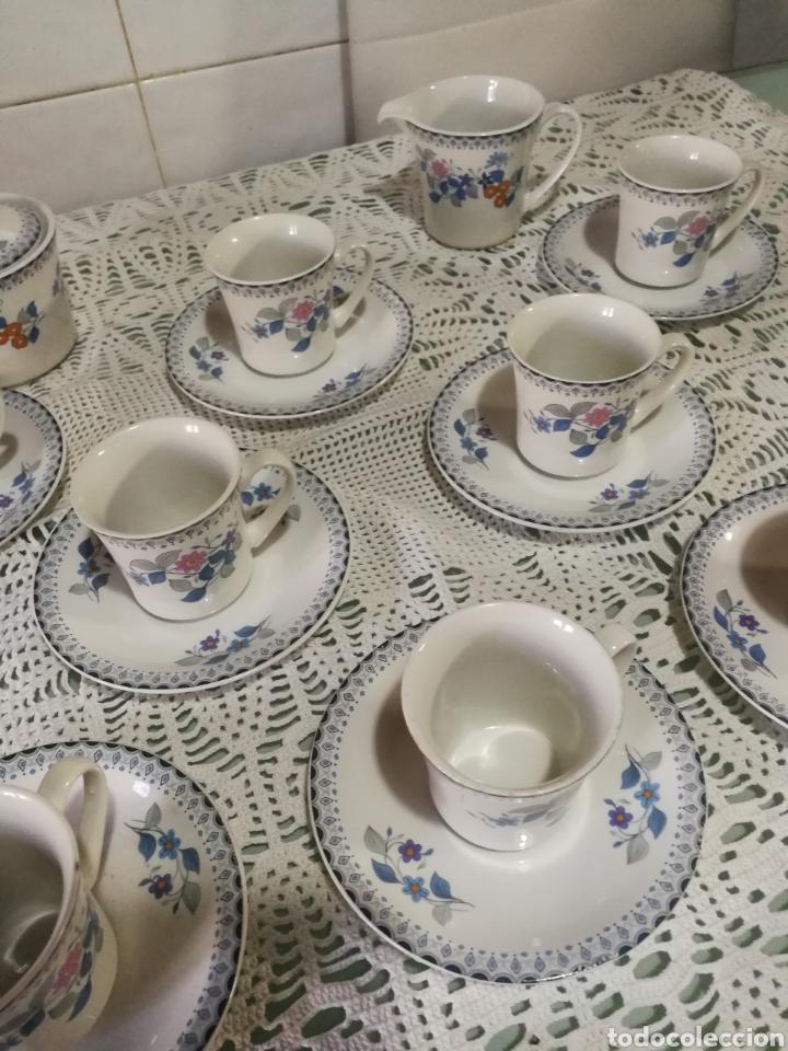 Antigüedades: Juego de café de porcelana. - Foto 2 - 184852240