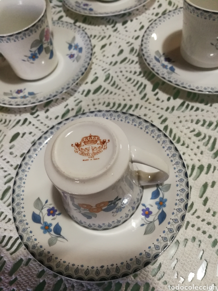 Antigüedades: Juego de café de porcelana. - Foto 5 - 184852240