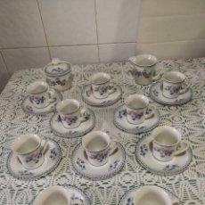 Antigüedades: JUEGO DE CAFÉ DE PORCELANA.. Lote 184852240