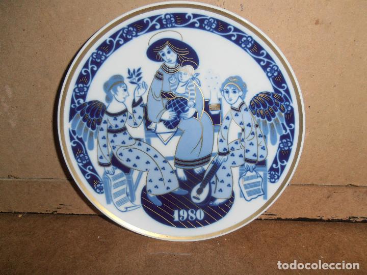 PLATO NAVIDAD SANTA CLARA - 1980 (Antigüedades - Porcelanas y Cerámicas - Santa Clara)