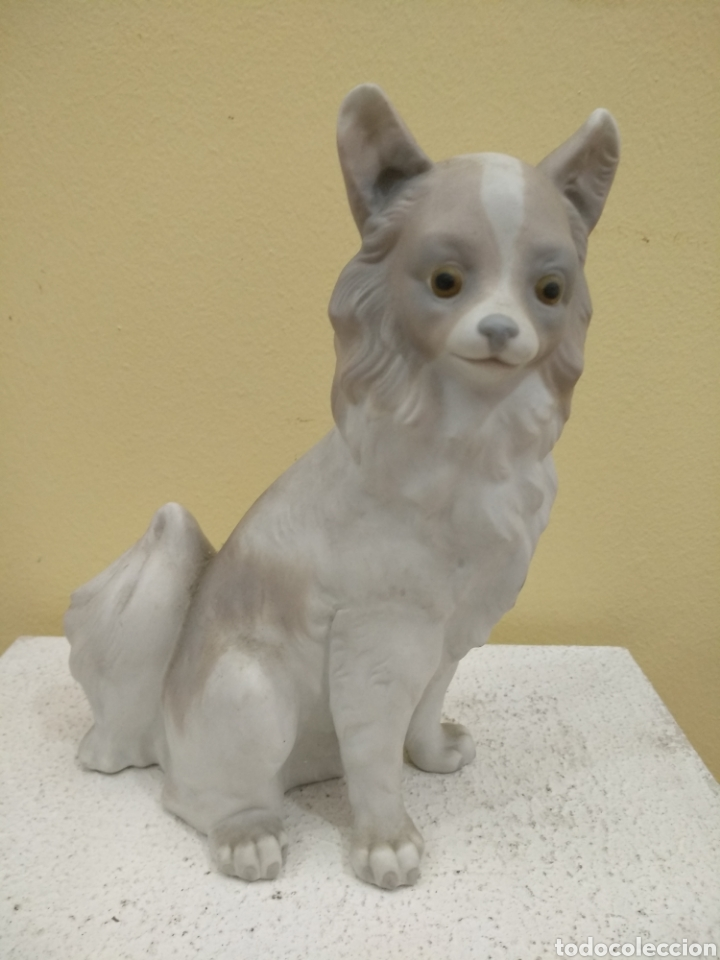 Antigüedades: Figura Perro de porcelana Nao. 21cm alto - Foto 2 - 184878482
