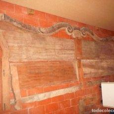 Antigüedades: BANCO DE CAOBA INCOMPLETO Y DESARMADO. Lote 184888436
