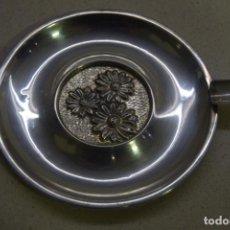 Antigüedades: CENICERO DE PLATA 10CM. Lote 184890032