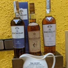 Antigüedades: WHISKY MACALLAN,3 BOTELLAS + JARRA MACALLAN. Lote 184891956