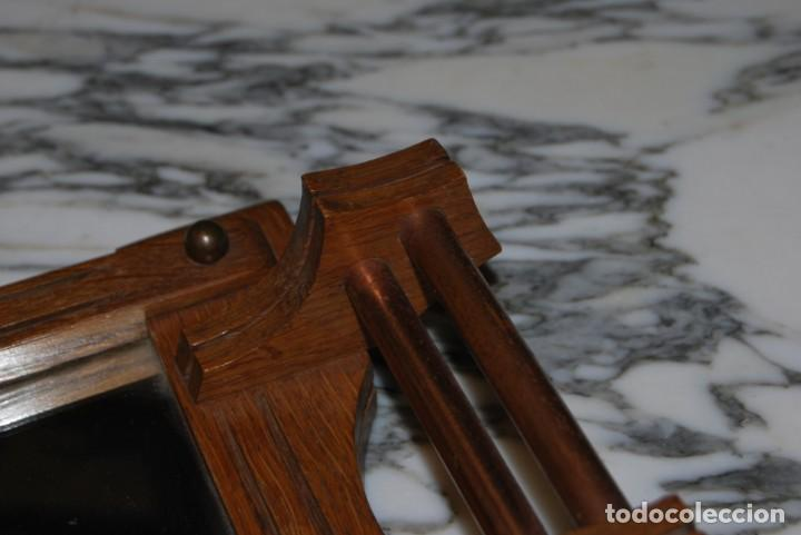 Antigüedades: BANDEJA DE MADERA, ESPEJO Y COBRE - AÑOS 20-30 - ART DÉCO - Foto 7 - 184907243