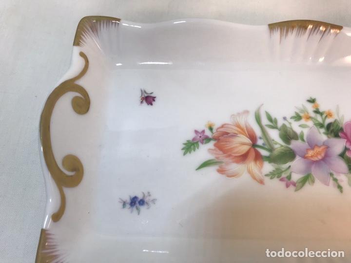 Antigüedades: Figura Porcelana- Algora- Bandeja- 25,50x13 cm - Foto 2 - 184915165