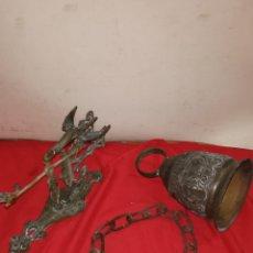 Antigüedades: IMPRESIONANTE CAMPANA ANTIGUA DE BRONCE SIGLO XIX. Lote 184930842