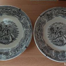 Antigüedades: PLATOS DE CARTAGENA. Lote 184934050