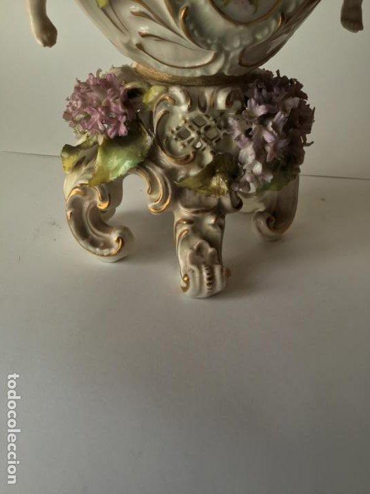 Antigüedades: ANTIGUO JARRON DE PORCELANA , CON 2 ANGELES Y FLORES DE JAZMIN , SIGLO XIX - Foto 16 - 185100991