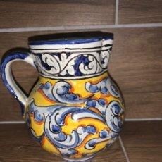 Antigüedades: JARRA SANGRÍA/ VINO DE CERÁMICA PINTADA A MANO TALAVERA. Lote 185132761