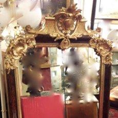 Antigüedades: ESPEJO S.XIX PAN DE ORO Y LACADO . Lote 185158532