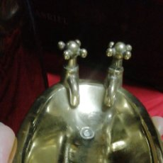 Antigüedades: ANTIGUA JABONERA ISABELINA DE BRONCE SIGLO XIX. Lote 185305370