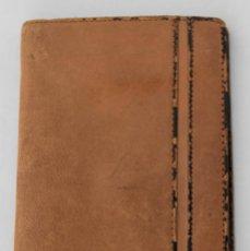 Antigüedades: CARTERA CON PORTAMONEDAS Y BILLETERO DE PIEL. Lote 185317333