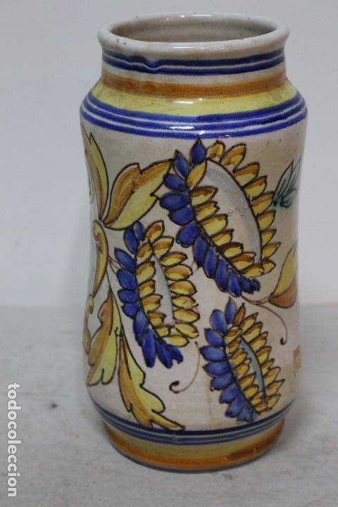 Antigüedades: Precioso albarelo de cerámica de arzobispo del puente. siglo XIX - Foto 2 - 185415667