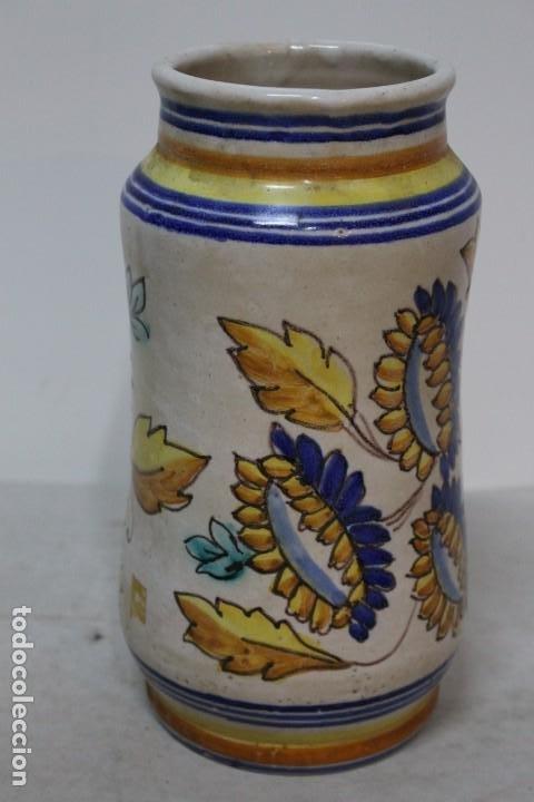 Antigüedades: Precioso albarelo de cerámica de arzobispo del puente. siglo XIX - Foto 3 - 185415667