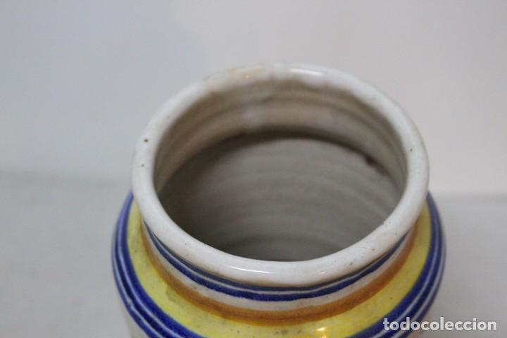 Antigüedades: Precioso albarelo de cerámica de arzobispo del puente. siglo XIX - Foto 4 - 185415667