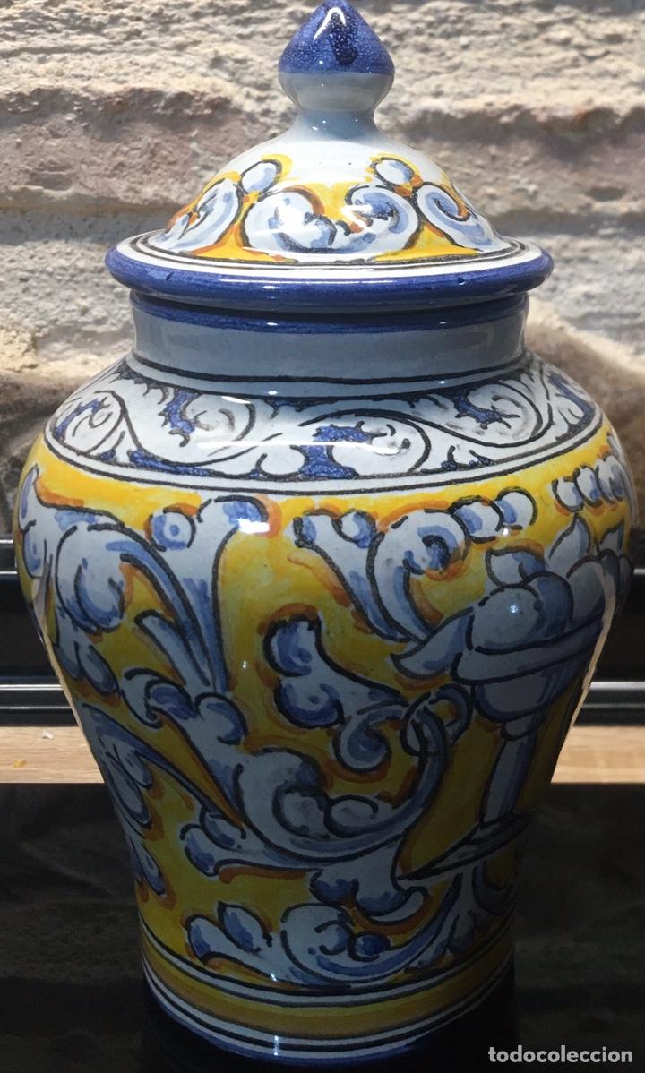 PEQUEÑO TIBOR DE TALAVERA DE LA REINA (Antigüedades - Porcelanas y Cerámicas - Talavera)