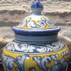 Antigüedades: PEQUEÑO TIBOR DE TALAVERA DE LA REINA. Lote 185495121