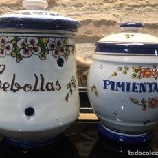 Antigüedades: PAREJA DE TARROS DE COCINA. Lote 185558813