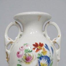 Antigüedades: ANTIGUA ANFORA DE PORCELANA ISABELINA. MARCA EN LA BASE. SIGLO XIX. Lote 185666348