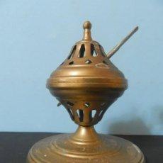 Antigüedades: INCIENSARIO ANTIGUO DE BRONCE 14 CENTIMETROS DE ALTO X 11 DE ANCHO. Lote 185676281