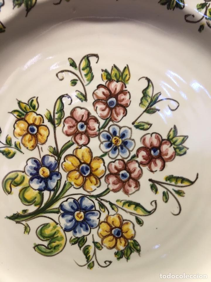 Antigüedades: Plato de flores - Foto 2 - 236876125
