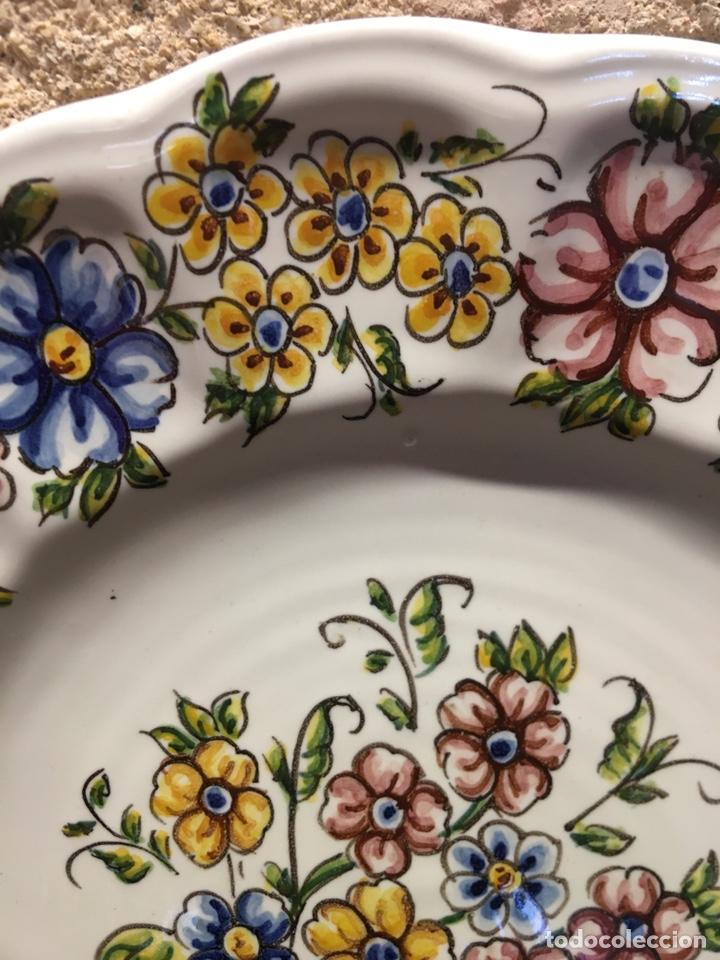 Antigüedades: Plato de flores - Foto 3 - 236876125