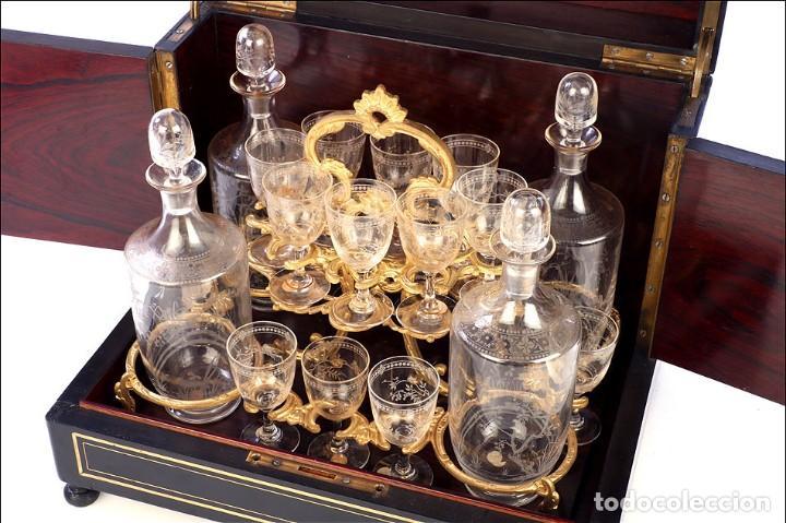Antigüedades: Antigua Licorera Francesa. Cristalería Baccarat. Napoleón III. Francia, Circa 1870 - Foto 6 - 185699283