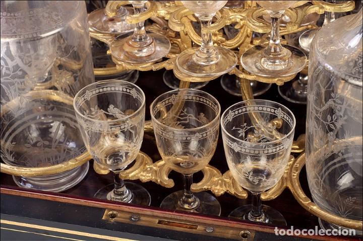 Antigüedades: Antigua Licorera Francesa. Cristalería Baccarat. Napoleón III. Francia, Circa 1870 - Foto 9 - 185699283