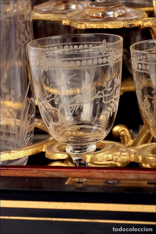 Antigüedades: Antigua Licorera Francesa. Cristalería Baccarat. Napoleón III. Francia, Circa 1870 - Foto 10 - 185699283