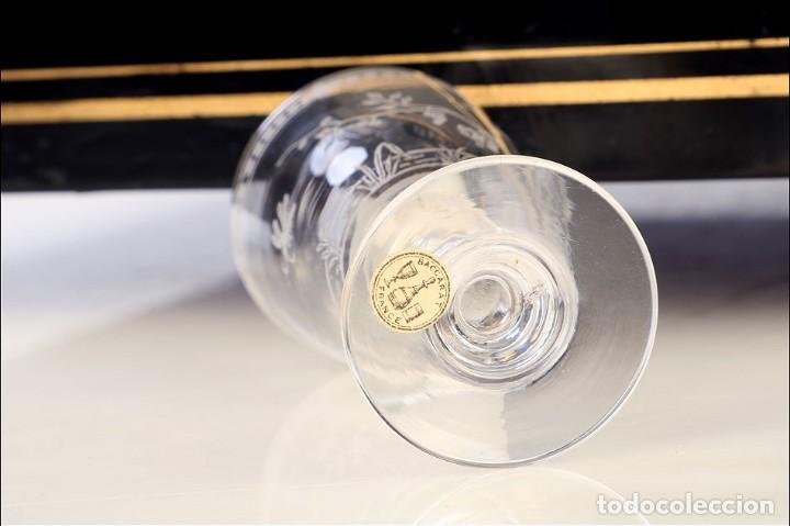 Antigüedades: Antigua Licorera Francesa. Cristalería Baccarat. Napoleón III. Francia, Circa 1870 - Foto 11 - 185699283