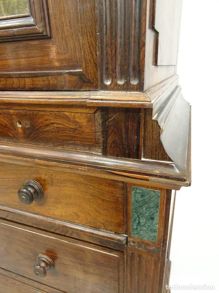 Antigüedades: Mueble inglés estilo Jorge III, S.XIX en madera de palosanto y roble en el interior - Foto 9 - 185701417