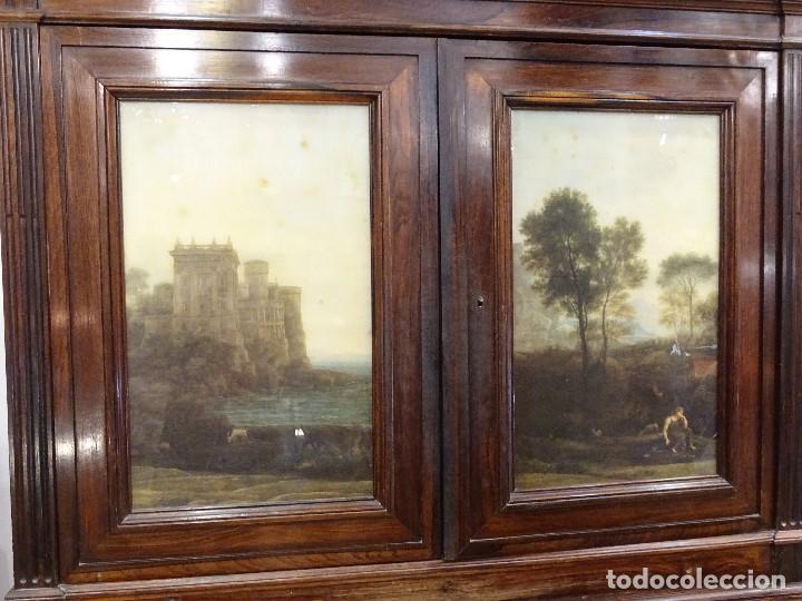 Antigüedades: Mueble inglés estilo Jorge III, S.XIX en madera de palosanto y roble en el interior - Foto 11 - 185701417