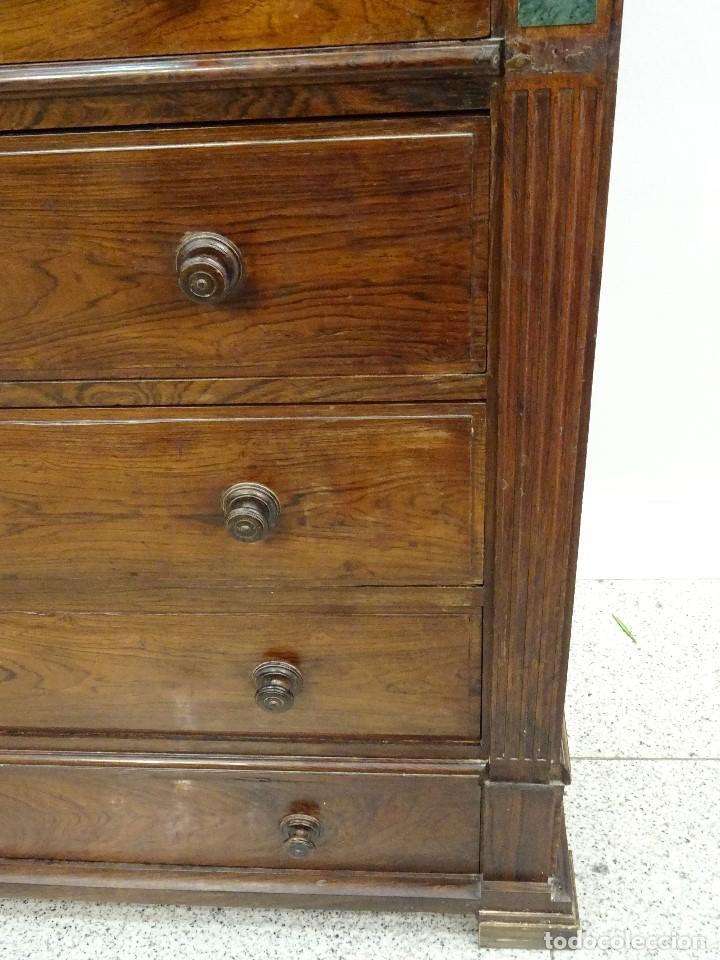 Antigüedades: Mueble inglés estilo Jorge III, S.XIX en madera de palosanto y roble en el interior - Foto 14 - 185701417
