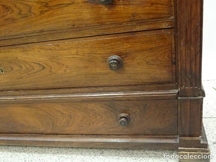Antigüedades: Mueble inglés estilo Jorge III, S.XIX en madera de palosanto y roble en el interior - Foto 15 - 185701417