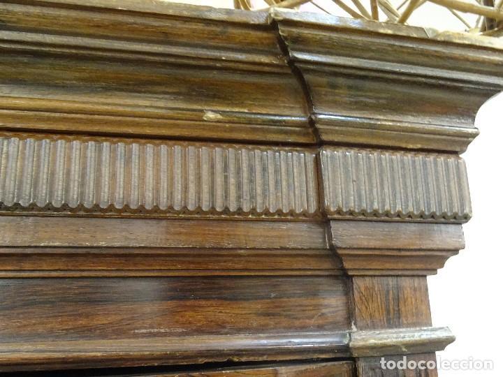 Antigüedades: Mueble inglés estilo Jorge III, S.XIX en madera de palosanto y roble en el interior - Foto 18 - 185701417